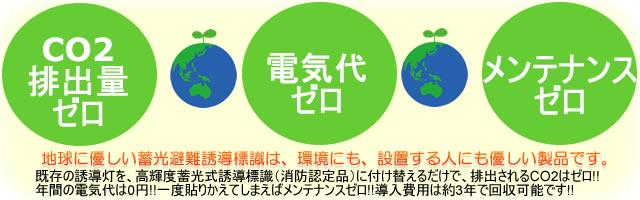エコが地球を救う蓄光避難誘導標識