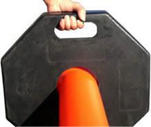 持ち運びできるBポストの黒い台座