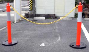 Bポストの駐車場での設置写真