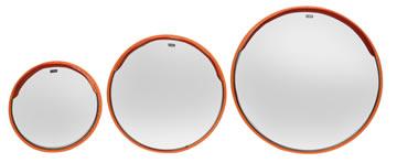 ゴコウミラー(ステンレスカーブミラー)丸型サイズ比較写真