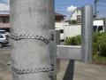 電柱アーム取付1